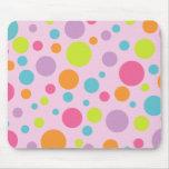 Lunares coloridos Mousepad Tapete De Ratón