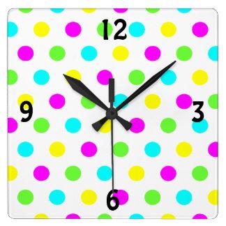 Lunares coloridos - reloj de pared