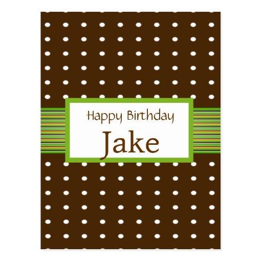 Lunares con cumpleaños de la cal y del chocolate postal