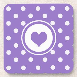 Lunares con Purple Heart Posavasos