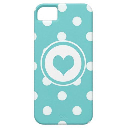 Lunares con un corazón V3 iPhone 5 Carcasa