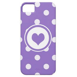 Lunares con un corazón V4 iPhone 5 Fundas