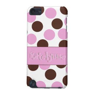 Lunares conocidos de encargo de Brown del rosa del Carcasa Para iPod Touch 5G