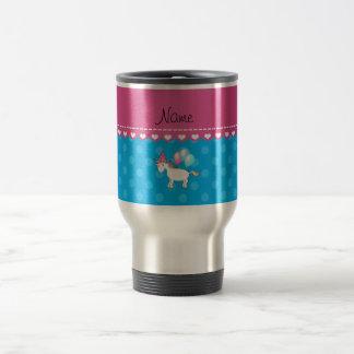 Lunares conocidos de encargo del azul del tazas de café