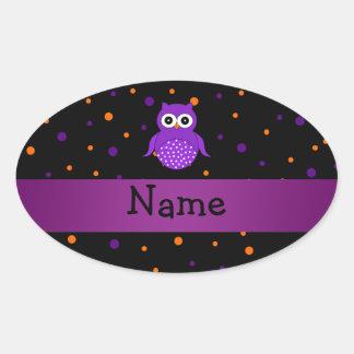 Lunares conocidos personalizados de Halloween del Calcomania De Oval Personalizadas