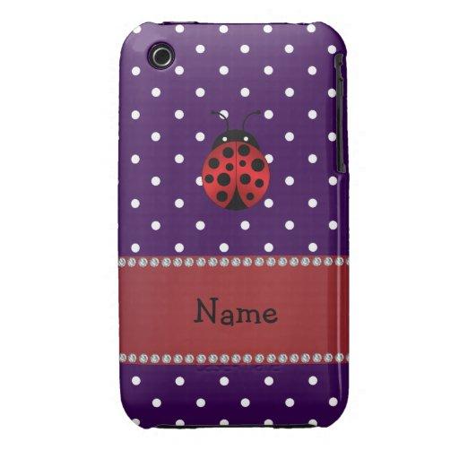 Lunares conocidos personalizados de la púrpura de Case-Mate iPhone 3 coberturas