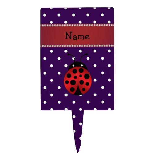 Lunares conocidos personalizados de la púrpura de decoraciones de tartas