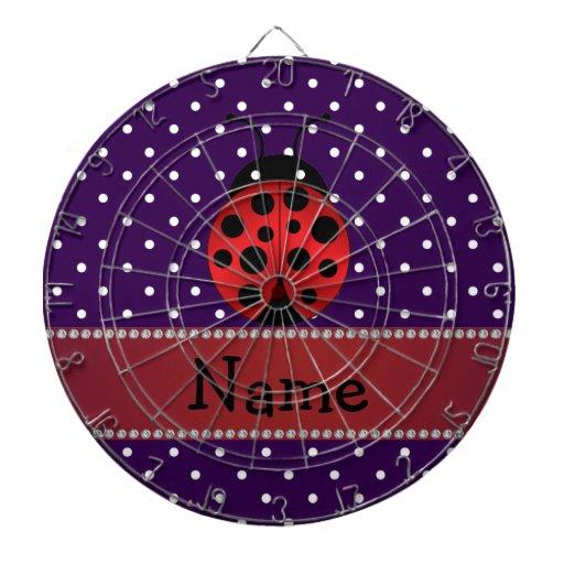 Lunares conocidos personalizados de la púrpura de  tablero de dardos