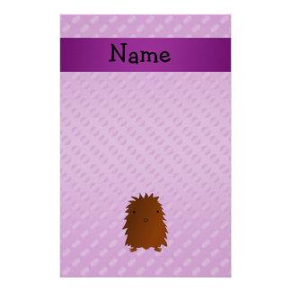 Lunares conocidos personalizados de la púrpura de  papeleria