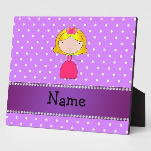 Lunares conocidos personalizados de la púrpura de  placas de plastico