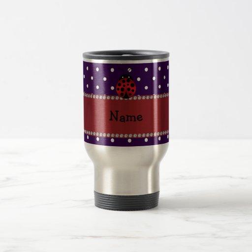 Lunares conocidos personalizados de la púrpura de  tazas de café