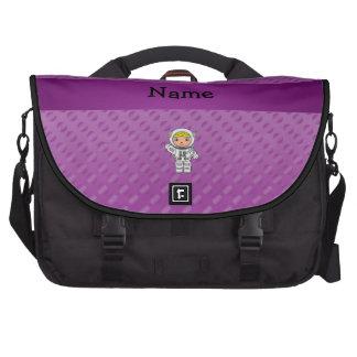 Lunares conocidos personalizados de la púrpura del bolsa para ordenador