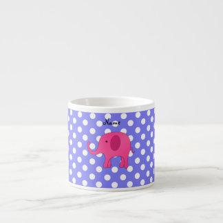 Lunares conocidos personalizados de la púrpura del taza espresso