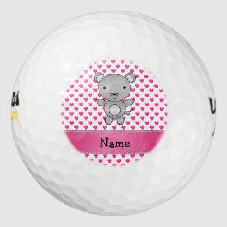 Lunares conocidos personalizados de los corazones pack de pelotas de golf