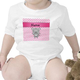 Lunares conocidos personalizados de los corazones traje de bebé