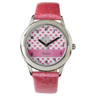 Lunares conocidos personalizados de los corazones relojes de mano
