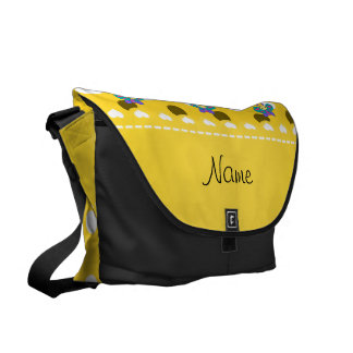 Lunares conocidos personalizados del amarillo de bolsas de mensajería