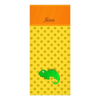Lunares conocidos personalizados del amarillo de diseño de tarjeta publicitaria