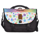 Lunares conocidos personalizados del arco iris de bolsas para portátil