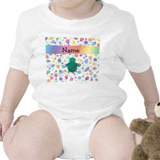 Lunares conocidos personalizados del arco iris de trajes de bebé