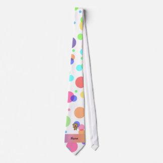 Lunares conocidos personalizados del arco iris del corbata personalizada