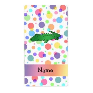 Lunares conocidos personalizados del arco iris del etiqueta de envío