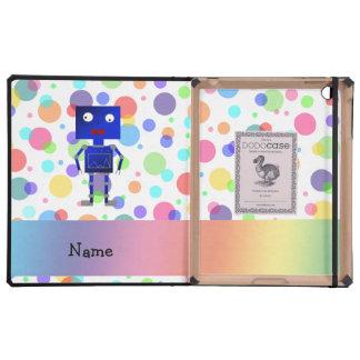 Lunares conocidos personalizados del arco iris del iPad carcasa