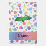 Lunares conocidos personalizados del arco iris del toallas de cocina