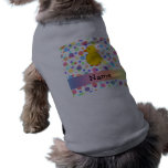 Lunares conocidos personalizados del arco iris del camiseta de mascota