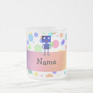 Lunares conocidos personalizados del arco iris del taza de café