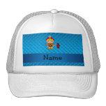 Lunares conocidos personalizados del azul del bomb gorras