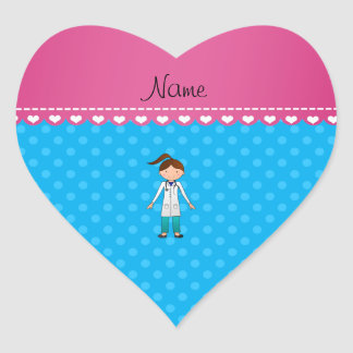 Lunares conocidos personalizados del azul del pegatina en forma de corazón