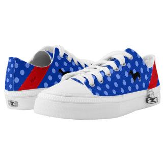Lunares conocidos personalizados del azul del zapatillas