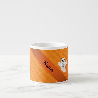 Lunares conocidos personalizados del naranja del f tazita espresso