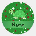 Lunares conocidos personalizados del navidad de la pegatinas redondas