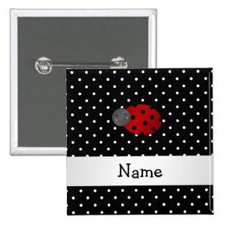 Lunares conocidos personalizados del negro de la m pin cuadrada 5 cm