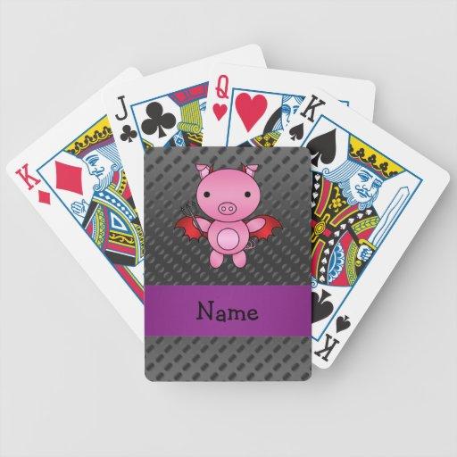 Lunares conocidos personalizados del negro del barajas de cartas
