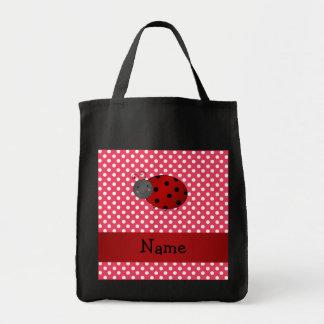 Lunares conocidos personalizados del rojo de la ma bolsa de mano
