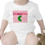 Lunares conocidos personalizados del rosa de la traje de bebé