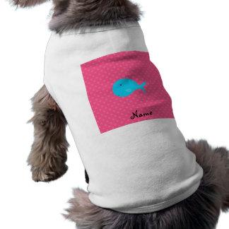 Lunares conocidos personalizados del rosa de la playera sin mangas para perro