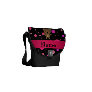 Lunares conocidos personalizados del rosa del bolsas de mensajeria