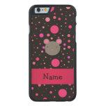 Lunares conocidos personalizados del rosa del funda de iPhone 6 carved® slim de arce