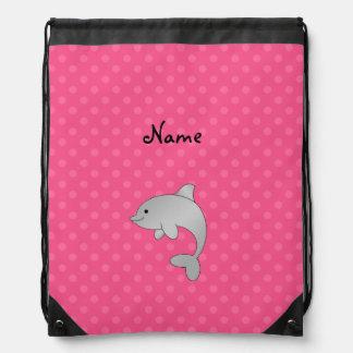 Lunares conocidos personalizados del rosa del delf mochilas