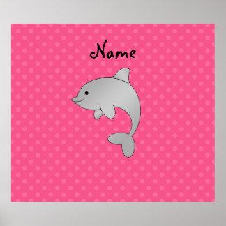 Lunares conocidos personalizados del rosa del delf poster