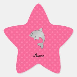 Lunares conocidos personalizados del rosa del delf calcomanía forma de estrella personalizada