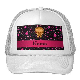 Lunares conocidos personalizados del rosa del negr gorro
