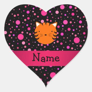 Lunares conocidos personalizados del rosa del negr pegatina corazon personalizadas