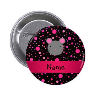 Lunares conocidos personalizados del rosa del negr pin