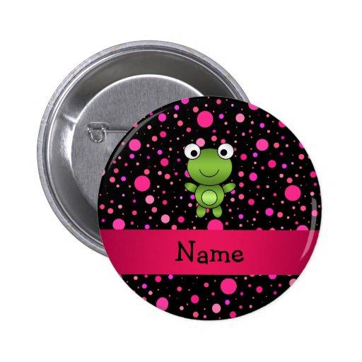 Lunares conocidos personalizados del rosa del negr pins