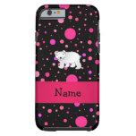 Lunares conocidos personalizados del rosa del oso funda de iPhone 6 tough